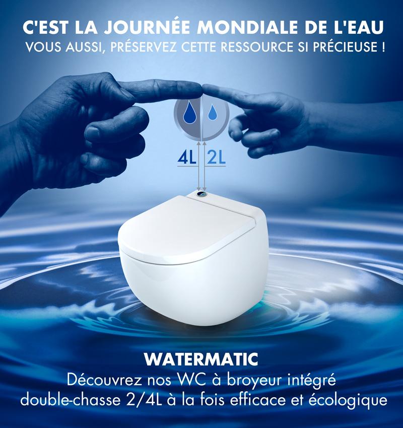 Avantages à installer un WC broyeur compact à économie d'eau