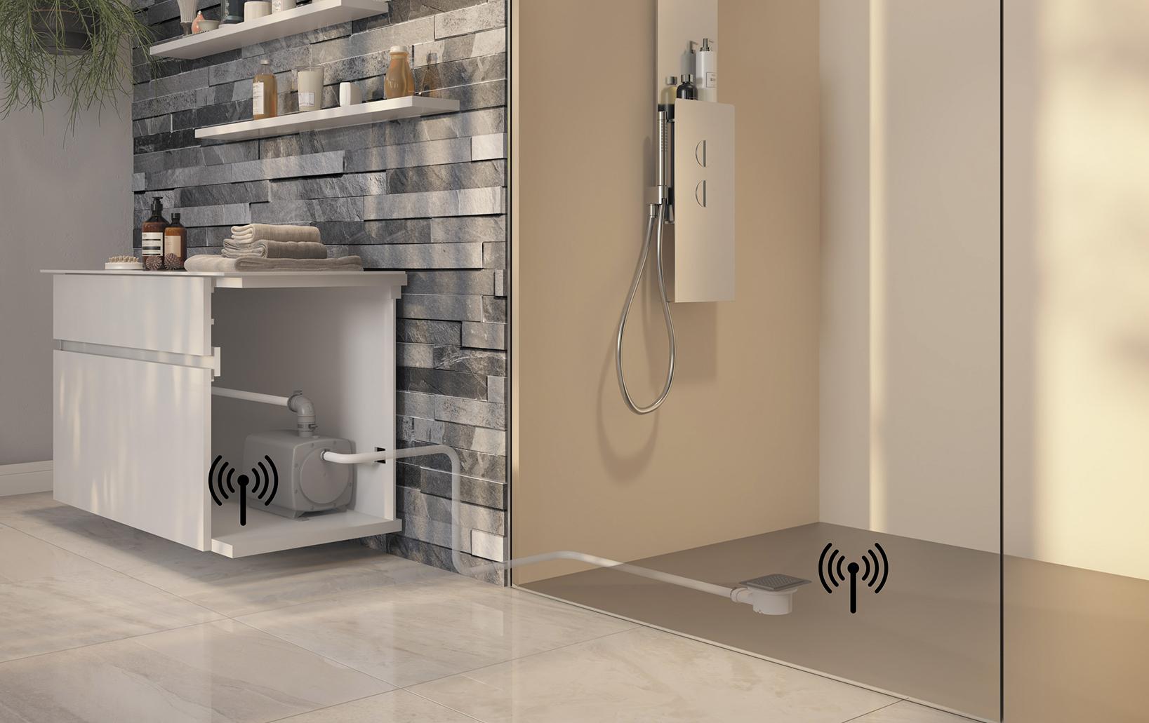 Installation d'une douche à l'italienne avec Kinefloor+